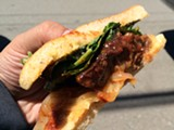 LUKE TSAI - Standard Fare's saucy BBQ pork sandwich.
