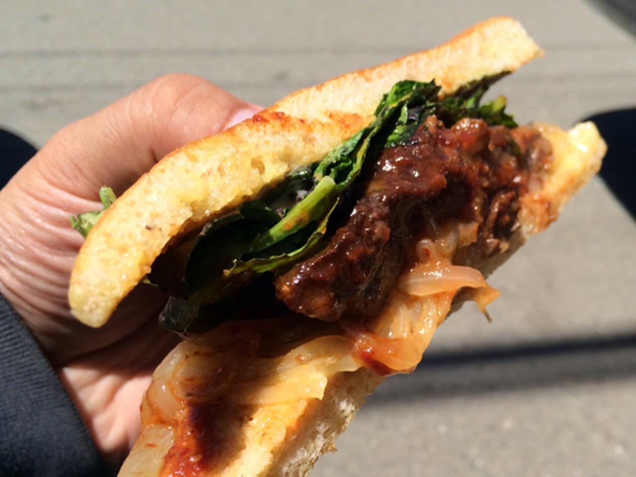 Click To Enlarge Luke Tsai Standard Fare S Saucy Bbq Pork Sandwich