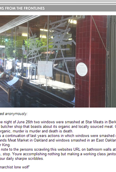 Star Grocery, Family-Owned Berkeley Butcher Shop, Vandalized by Animal Rights Activists