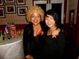 Star Valdez and Mariko Lam at Altarena Playhouse's Pride Night.