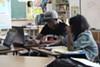 Street Academy students Kwabena Lewis-Ingram and Shacarri Thomas.