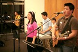 JAMIE SOJA - Students at an event sponsored by Campus Crusade for Christ.