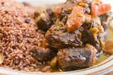 CHRIS DUFFEY - Sweet Fingers' braised oxtail is rich, buttery, and robust in flavor.