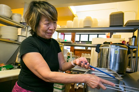 Tamiko Murata, who owns Muracci's with her husband, cooks her curry for two days. - BERT JOHNSON