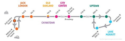 The B runs from 7 a.m. to 7 p.m. weekdays.