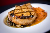 CHRIS DUFFEY - The best entrée was the grilled pork chop.