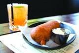 BERT JOHNSON - The breakfast corndog at Handlebar is beyond decadent.