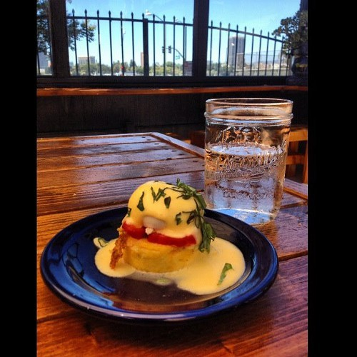 The brunch menu at Portal includes eggs benedict (via Facebook)