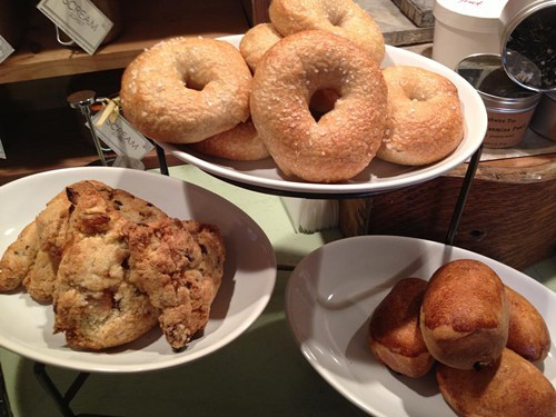 The cafe features a small but impressive selection of baked goods each day (via Facebook).