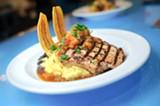 CHRIS DUFFEY - The cane-glazed pork chop is the restaurant's best entrée.