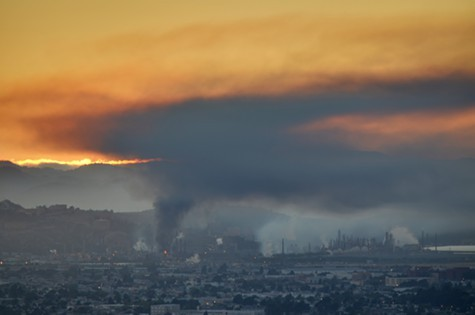 The Chevron refinery fire last August.