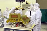 COURTESY OF NASA - The CHIPS satellite in a clean room at Vandenberg Air Force Base.