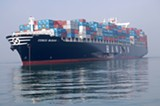 COURTESY OF THE US COAST GUARD/FILE PHOTO - The Cosco Busan dumped 53,000 gallons of oil into the bay in 2007.