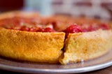 CHRIS DUFFEY - The deep-dish crust has cornmeal, which gives it a wonderfully crunchy texture.