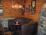 ELLEN CUSHING - The downstairs bar is straight-up ski lodge.