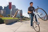 SONYA REVELL - The Embarcadero offers wide-open flat spaces for biking, walking, and skateboarding.