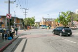 BERT JOHNSON - The eye-sore intersection at Telegraph Avenue and Haste Street in Berkeley.