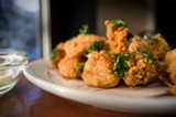 CHRIS DUFFEY - The fried chicken with raw oyster mayonnaise is pure magic.