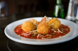 CHRIS DUFFEY - The fried risotto balls are super-crunchy — and delicious.