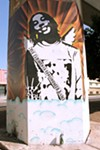 The Gary King Jr. mural was sandblasted in 2009.