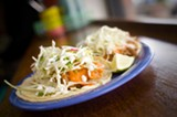 CHRIS DUFFEY - The genius of Cholita Linda's fish taco is in how well the components complement each other.