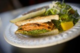 CHRIS DUFFEY - The grilled yam and cheese sandwich features goat cheese and arugula.