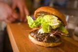 CHRIS DUFFEY - The house burger features Tribeca Oven bakery challah buns.