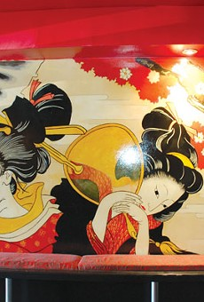 The interior mural at Geisha, in downtown Oakland near Chinatown.