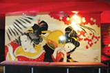 ALEC MCDONALD - The interior mural at Geisha, in downtown Oakland near Chinatown.