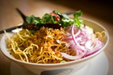 CHRIS DUFFEY - The kao soi dish proves that Thai food doesn't need to be scorchingly hot in order to be authentic.