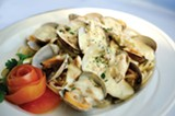 CHRIS DUFFEY - The linguine with clams is irresistible.