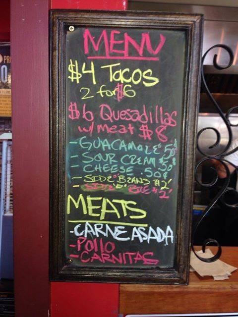 The new menu at Olde Depot (via Facebook)