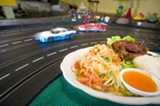 CHRIS DUFFEY - The papaya salad was notable for its freshness, but it lacked pungency.