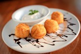 CHRIS DUFFEY - The potato puffs are simply irresistible.