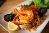 CHRIS DUFFEY - The rice of the traditional paella is addictively savory and flavor-packed.