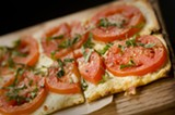 CHRIS DUFFEY - The Roma tomatoes and Dijon mustard were a winning combination on the pizzeta.