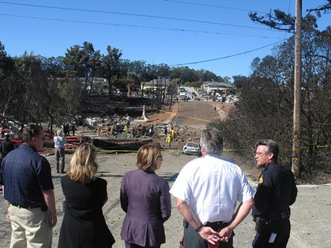 The San Bruno blast destroyed a neighborhood.