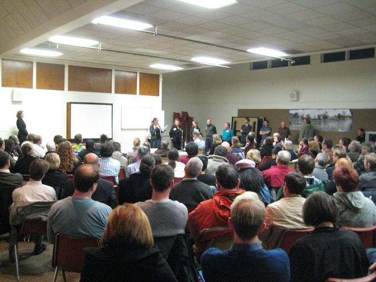 The scene at last nights meeting.