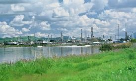 The Tesoro refinery in Martinez.