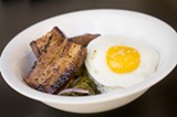 CHRIS DUFFEY - The texture of the 24hr Pork Belly with optional fried egg is totally seductive.