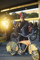 MATTHEW HINTZ - The theme of a recent East Bay Bike Party was Candyland.