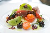 CHRIS DUFFEY - The tomato salad was  a beautiful disappointment.