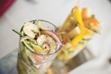 CHRIS DUFFEY - The tres ceviches extravaganza is delight.