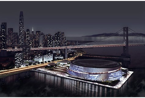 The Warriors proposed SF arena.