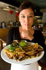 CHRIS DUFFEY - Though it's not on the menu, the pork belly quesadilla is available at Cosecha.