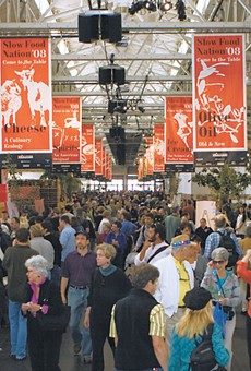 Thousands of people crowded the Taste pavilion at Slow Food Nation, which cost $45 to $65 to attend.