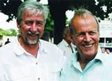 Tom Hayden on left