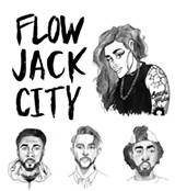 ILLUSTRATIONS BY ROXANNE PASIBE - Top: Kehlani. Bottom (left to right): Sage the Gemini, G-Eazy, and Iamsu!.