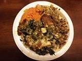 LUKE TSAI - Twelve bucks buys you a huge plate of food.