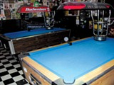RACHEL SWAN - Two pool tables may be one too many for Oakland's Stork Club.